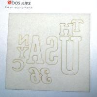Laser marking on paper, foil and paperboard